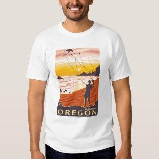 Beach & Kites - Bandon, Oregon Tshirts