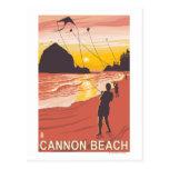 Beach & Kites - Cannon Beach, Oregon Post Cards