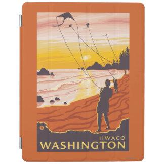 Beach & Kites - Ilwaco, Washington iPad Cover