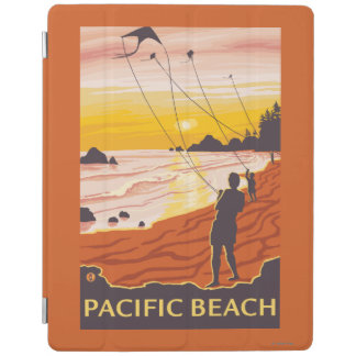 Beach & Kites - Pacific Beach, Washington iPad Cover