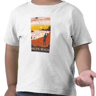 Beach Kites - Pacific Beach Washington T Shirts