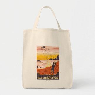 Beach & Kites - Sunset Beach, Washington