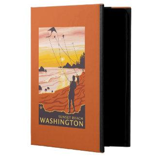 Beach & Kites - Sunset Beach, Washington Cover For iPad Air