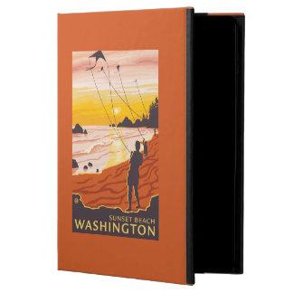Beach & Kites - Sunset Beach, Washington iPad Air Cover