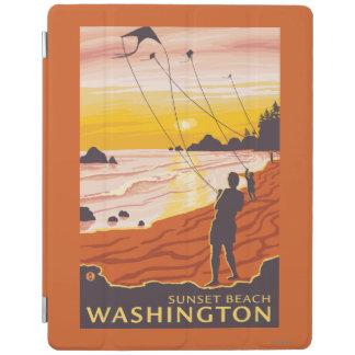Beach & Kites - Sunset Beach, Washington iPad Cover