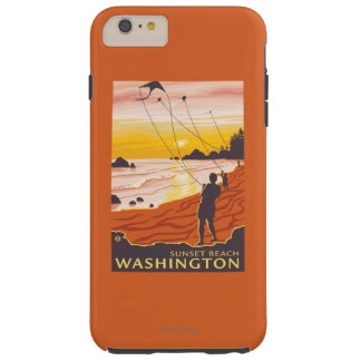 Beach & Kites - Sunset Beach, Washington Tough iPhone 6 Plus Case