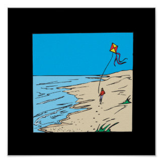 Beach Kiting Poster