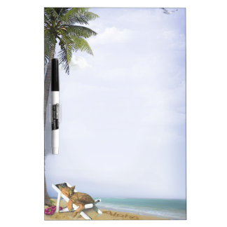 Beach Kitty Dry Erase Board