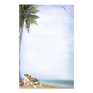 Beach Kitty Stationery