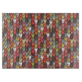 beach knit ikat arrow cutting board