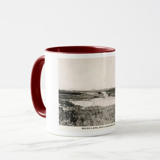 Beach Lane, Westhampton, New York, Vintage Mug
