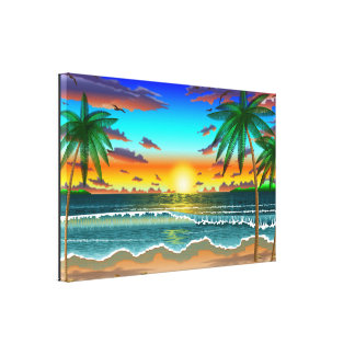 Beach Lanscape scenery one cratemade canvas print