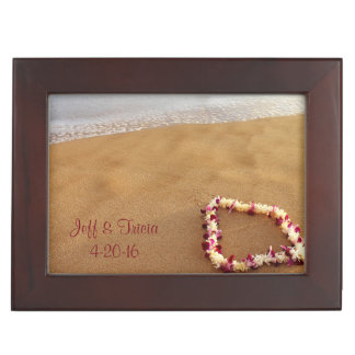 Beach & Lei Wedding Keepsake Box