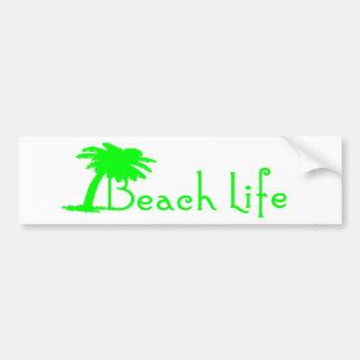 Beach Life Bumper Sticker (Black)