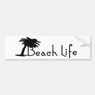 Beach Life Bumper Sticker (Black) Car Bumper Sticker