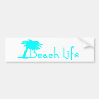 Beach Life Bumper Sticker Turquoise