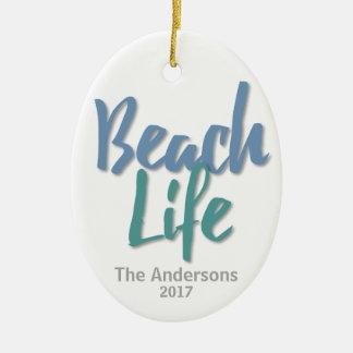 Beach Life Christmas Ornament