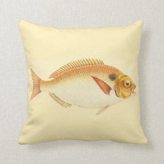 Beach Life, Fish Print Pillow Cottage Decor