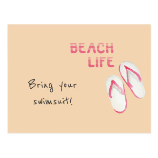 Beach Life Flip Flops Postcard