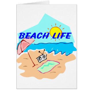 beach life greeting cards