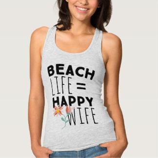 Beach Life Happy Wife Tank Top