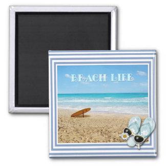 Beach Life Refrigerator Magnet