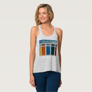 Beach Life Multi Colored Door Cabanas T Shirt
