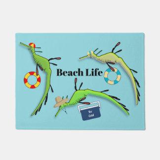 Beach life of Weedy Sea Dragons Doormat