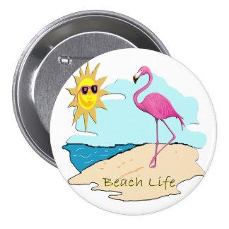 Beach Life Pinback Button