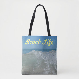 Beach Life Wave Tote Bag