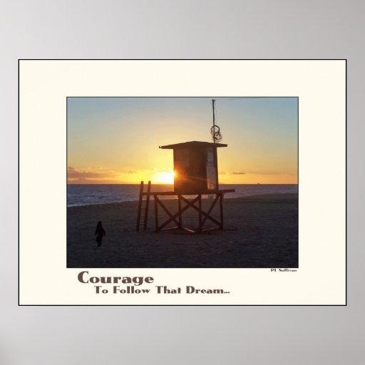 Beach Lifeguard Station Motivational Print