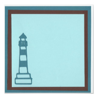 beach lighthouse invitation
