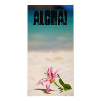 Beach Lily Photo Card Template