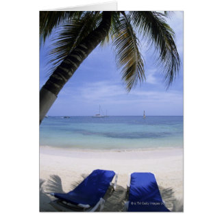 Beach, Lounge Chair, Palm tree, Horizon Over Card