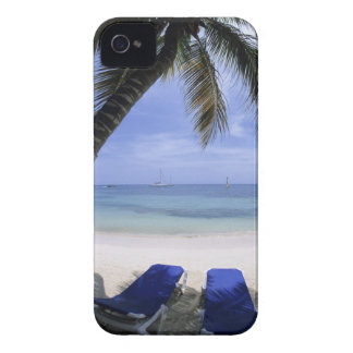 Beach, Lounge Chair, Palm tree, Horizon Over iPhone 4 Case-Mate Cases