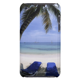 Beach, Lounge Chair, Palm tree, Horizon Over iPod Case-Mate Cases