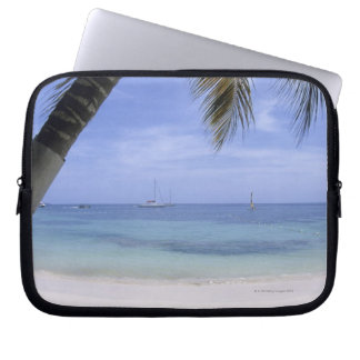 Beach, Lounge Chair, Palm tree, Horizon Over Laptop Sleeve