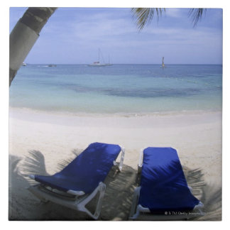 Beach, Lounge Chair, Palm tree, Horizon Over Tile