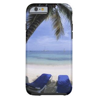 Beach, Lounge Chair, Palm tree, Horizon Over Tough iPhone 6 Case