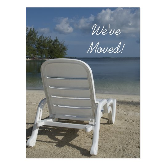 Beach Lounge Change of Address Postcard