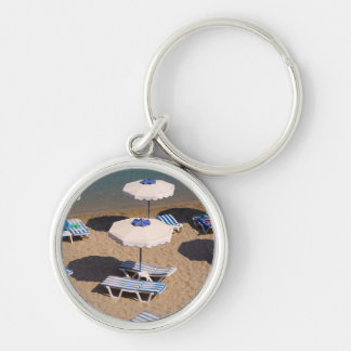 Beach Lounge | Rhodes, Dodecanese Islands, Greece Key Ring