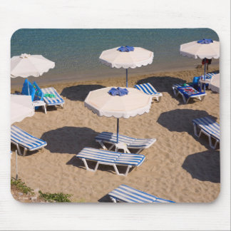 Beach Lounge | Rhodes, Dodecanese Islands, Greece Mouse Pad
