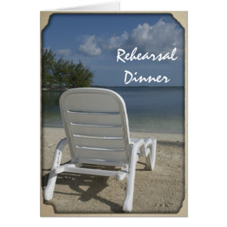 Beach Lounge Wedding Rehearsal Dinner Invitation