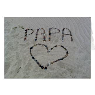 Beach  Love Father's Day Card