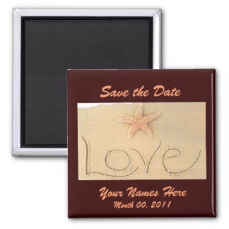 Beach LOVE Wedding Magnet