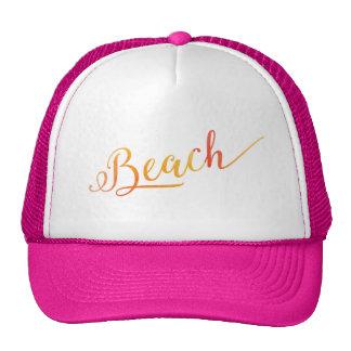 Beach Lovely Stylized Peach Color Cap