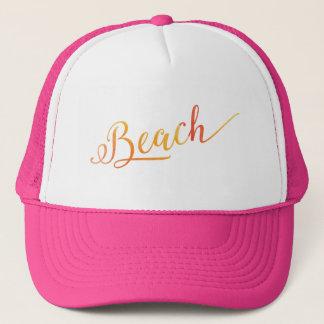 Beach Lovely Stylized Peach Color Trucker Hat