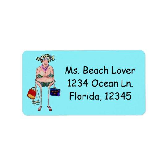 """BEACH LOVER"" LABEL"