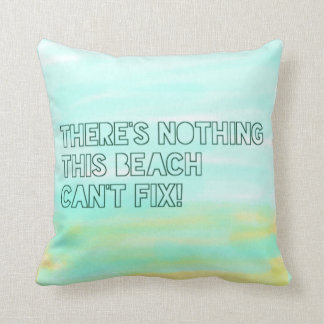 Beach Lover Quote Watercolor Typography Cushion