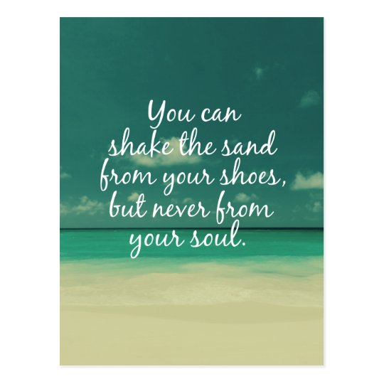 Beach Lovers Quote Postcard
